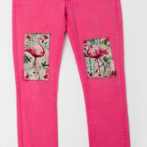 Flamingo pink pants